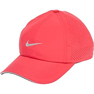 Nike Women's Perforated Cap, Geranium/Silver/Metallic Silver, One Size