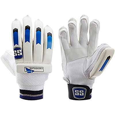 SS Countylite RH Batting Gloves, Men's (White/Blue)