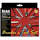 9-Piece Beadsmith Deluxe Jewelry Pliers Ergonomic Tool Kit with Case