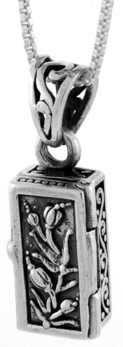 Sterling Silver Prayer Box with Tulips