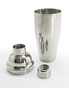 Premium Cocktail Shaker w/ Built-in Strainer, Special Bundle SET of Double Jigger, 2 Bottle Pourers, eBook w/ 50+ Recipes, SST 304 18/8 24oz Martini Bar Kit - Lifetime Guarantee