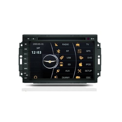 REALMEDIA CHRYSLER ASPEN 300C SRT8 OEM Digital Touch Screen Car Stereo 3D Navigation GPS DVD TV USB SD iPod Bluetooth Hands-free Multimedia Player +++mit REALMEDIASHOP Garantie+++