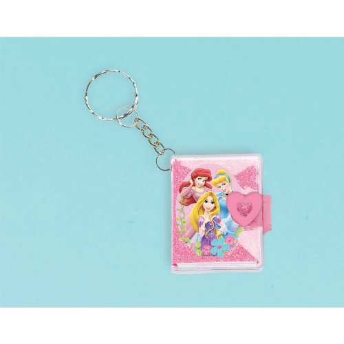 Disney Princess Glitter Keychain Notebook - Each