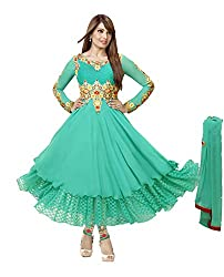 Adah Georgette Dress Material (Green) - 569-4002