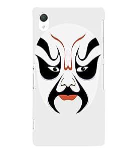 EPICCASE Beijing Opera White Mask Mobile Back Case Cover For Sony Xperia T2 (Designer Case)