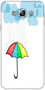 Snoogg Abstract Rainy Season Background With Clouds Solid Snap On - Back Cove...