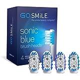 Extra Brush Heads for the Blue Light Whitening Toothbrush (4-Pack)