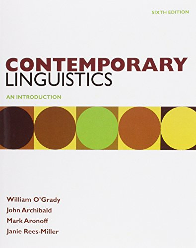 Contemporary Linguistics 6e & Study Guide