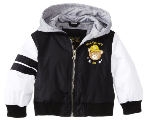 Ixtreme Little Boys Black Variety Hooded Spring Jacket 3T front-793772
