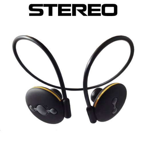 Black Wireless Stereo Bluetooth Headset With Built-In Mic For All Lg Phones