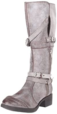 C Label Women's Blasco-2 Motorcycle Boot,Grey,5.5 M US