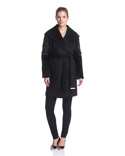 Ada Outerwear Women's Jackie Coat with Fur Sleeves