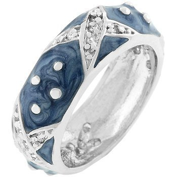 Boogie Down Blue Enamel Ring (size: 05)
