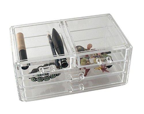 Acrylic Jewellery Box w/4 Drawers
