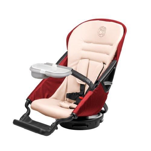 Orbit Baby G3 Stroller Seat, Ruby front-822248