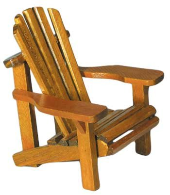 Wood Miniature Small Adirondack Chair With Natural Weathered Look 4