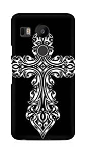 Amez designer printed 3d premium high quality back case cover for LG Nexus 5x (Tribal cross)