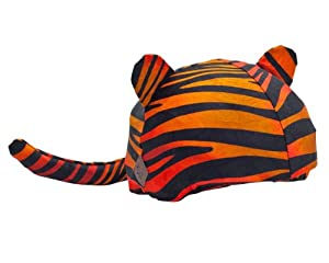 Tiger Helmet Cover (Lycra) - One Size Fits All (Kids + Adults) & All Sports... by Tail Wags Helmet Covers