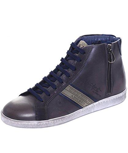 La Martina Uomo Sneaker in pelle High-Top ASCOT 41 Grigio
