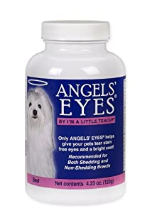 Angels' Eyes Tear-Stain Eliminator for Dogs and Cats, Beef Flavor, 120 Grams Bottle