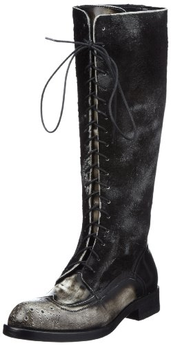 Jo Ghost 1301/976 Boots Womens Gray Grau (nero bianco) Size: 4 (37 EU)