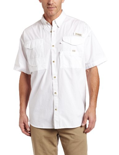 Columbia Men's Bonehead Short Sleeve Fishing Shirt (White, Medium) Picture