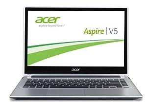 Acer Aspire V5-431P-987B4G50Mass 35,3 cm (14 Zoll) Notebook (Intel Pentium 987, 1,5GHz, 4GB RAM, 500GB HDD, Intel HD, DVD, Touchscreen, Win 8) silber