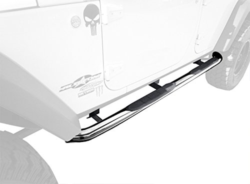 "Premium Custom Fit 2007-2015 Jeep Wrangler 4 Door 3"" Side Armor Step Nerf Bars Stainless Steel Running Boards"