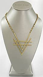 Charles Albert Alchemia V Statement Necklace in Shiny Gold