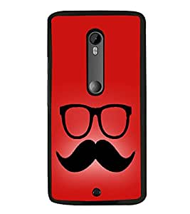 Moustache Uncle 2D Hard Polycarbonate Designer Back Case Cover for Motorola Moto X Style :: Moto X Pure Edition