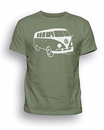 Mens Vw Campervan Camper Retro Camp Van Volkswagen Top T