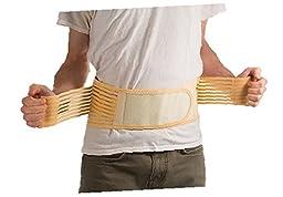 ziraki Adjustable Lumbar Lower Back Support Brace, 3X-Large/40-46\