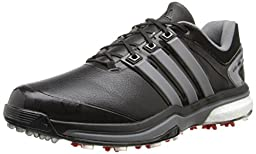 adidas Men\'s Adipower Boost Golf Shoe, Core Black/Iron Metallic/Core Black, 9 M US