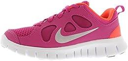 Nike Kids Free 50 Fusion Pink metallic Silver total Crimson 580594 600