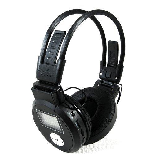 Generic Black Wireless Foldable Headphone Headset Mp3 Player Fm Radio Tf Card Slot