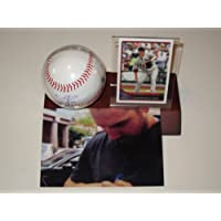 Chris Carpenter St Louis Cardinals Signed Autographed Baseball with Card Plus Holder Authentic Certified Coa