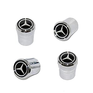 41 HhiZWRDL. SL500 AA300  Mercedes Benz Valve Stem Caps (Black)