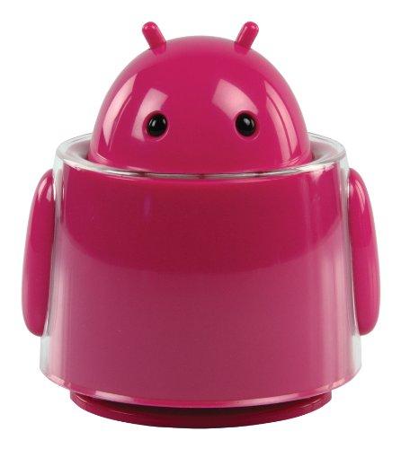 Konig Andy 20W Unearthly Resonator Robot/Alien Computer/High Power Active MP3 Speaker - Pink