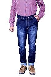 Jctex Mens Denim Jeans (Letherjean 34 _Blue _34)