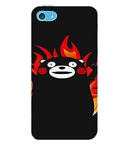 PrintVisa Cute Cartoon Panda Design 3D Hard Polycarbonate Designer Back Case Cover for Apple iPhone 5C