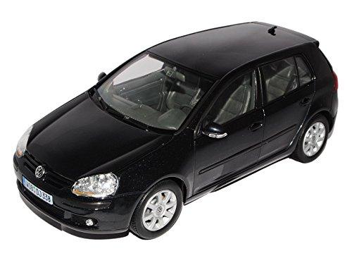 VW-Volkswagen-Golf-V-5-Schwarz-Black-5-Trer-Metallmodell-118-Welly-Modellauto-Modell-Auto