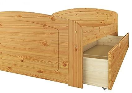 60.50-16 Bett Kiefer massiv 160x200 cm, mit 3 Bettkästen u Rollrost