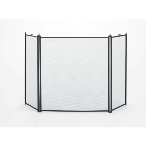 Woodfield 3-panel Black Fireplace Screen (Steel Roofing Panels compare prices)