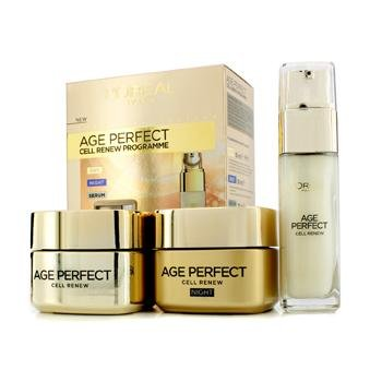 L'Oreal Age Perfect Cell Renew Programme: Night Cream 50ml + Day Cream SPF 15 50ml + Serum 30ml 3pcs - Hautpflege thumbnail