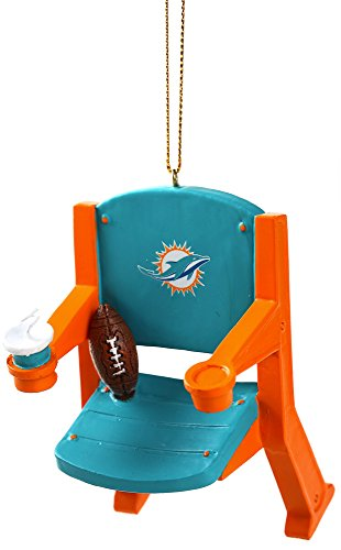 Miami Dolphins Official NFL 4 inch x 3 inch Stadium Seat Ornament