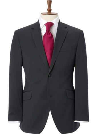 Austin Reed Contemporary Fit Grey Semi Plain Jacket LONG MENS 38