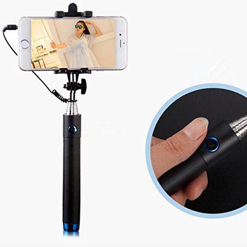 selfie stick self portrait monopod wired selfie stick for iphone 6s 6s plus 6 6 plus 5s. Black Bedroom Furniture Sets. Home Design Ideas
