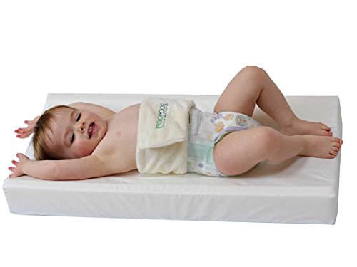 "PooPoose Wiggle Free Diaper Changing Pad/ Changing Table Pad, White, 16"" X 32"" X 3.5"""