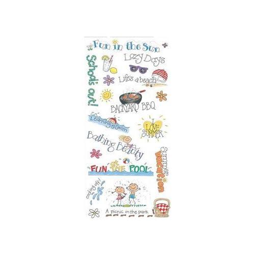 Amazon.com: Me & My Big Ideas Sticker Sheet-Summer Sayings