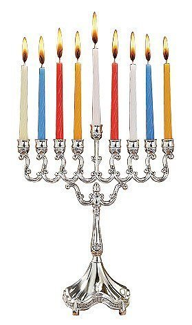 Ner Mitzvah Canukah Silver Plated Candle Menorah by Ner Mitzvah